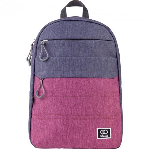 Рюкзак для города GoPack Сity 44.5x29.5x14.5 20 л серый/розовый (GO21-118L-1) - изображение 1