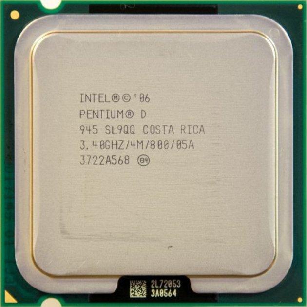 Процесор Intel Pentium D945 3.40 GHz/800MHz/4096k (SL9QQ) s775, tray - зображення 1