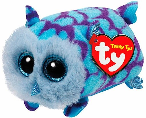 М'яка іграшка TY Teeny Ty's Блакитна сова MIMI 12 см (42144) - изображение 1