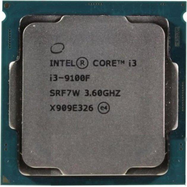 Процесор Intel Core i3-9100F 3.6 GHz / 8 GT / s / 6 MB (CM8068403358820) s1151 OEM - зображення 1