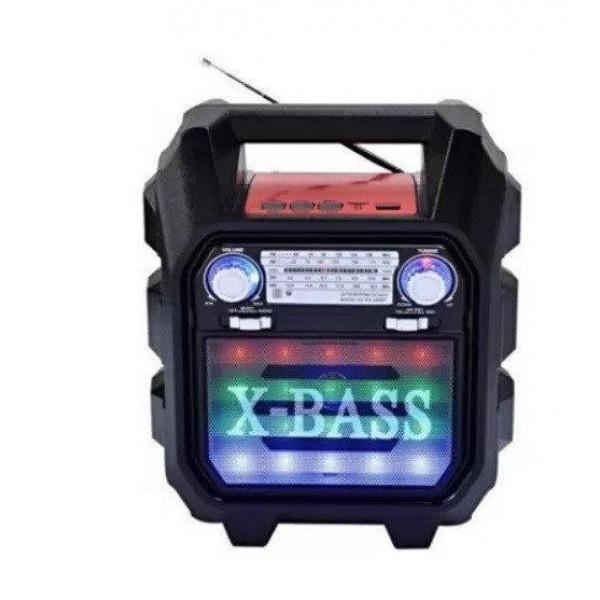 Акустическая система Golon радиоприемник Bluetooth колонка с радио и светомузыкой Чёрная (RX699BT) - изображение 1