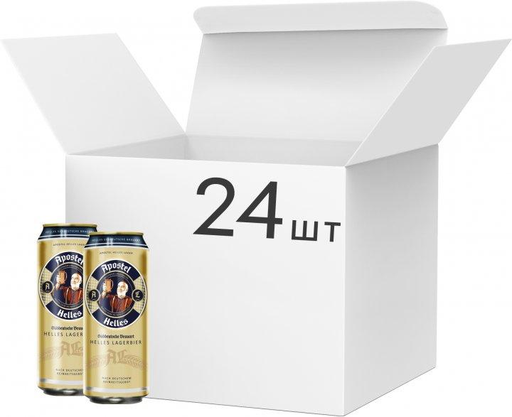 Упаковка пива Apostel Helles Lager світле фільтроване 5% 0.5 л х 24 шт. (4054500101138) - зображення 1