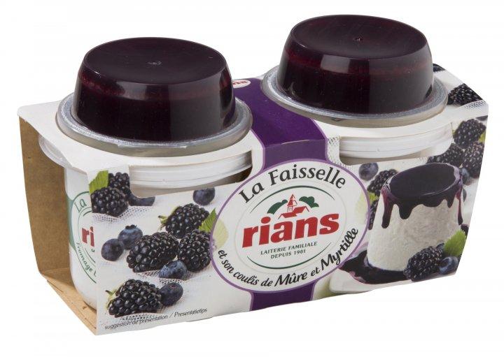 Десерт Rians сырный Фессель с ежевикой и черникой 2х120 г - изображение 1
