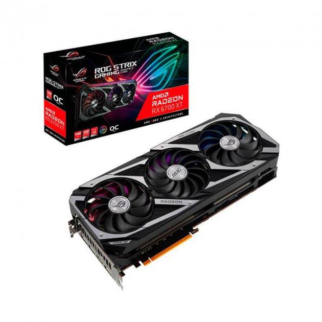 Відеокарта AMD Radeon RX 6700 XT 12GB GDDR6 ROG Strix Gaming OC Asus (ROG-STRIX-RX6700XT-O12G-GAMING) - зображення 1