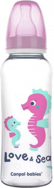 Бутылка Canpol babies PP Love & Sea 250 мл Розовый (59/400 Рожевий) - изображение 1