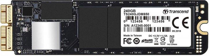 Transcend JetDrive 850 240GB M.2 2280 NVMe PCIe 3.0 x4 3D NAND TLC (TS240GJDM850) - изображение 1