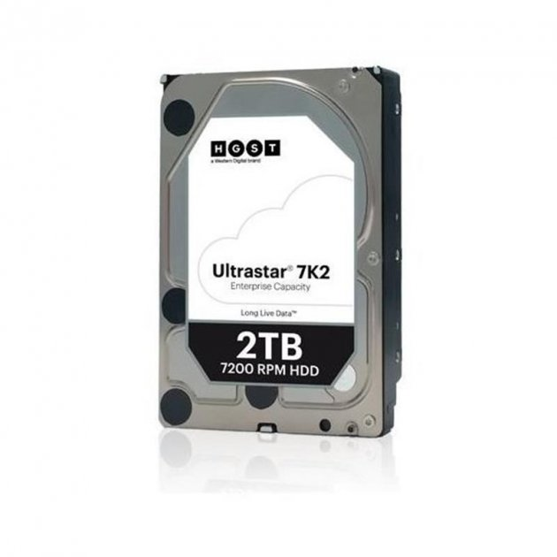 Накопитель HDD SATA 2.0TB WD Ultrastar 7K2 7200rpm 128MB (HUS722T2TALA604/1W10002) - изображение 1