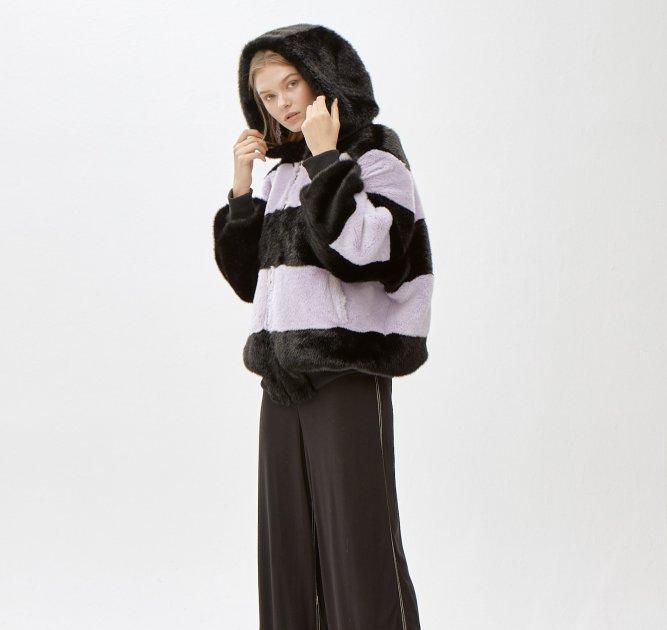 Пальто зі штучного хутра molliolli ANNIE JACKET purple, ONE SIZE, MW9WJK07Xp - зображення 1