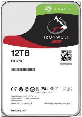 Жорсткий диск Seagate IronWolf HDD 12TB 7200rpm 256MB ST12000VN0008 3.5 SATAIII - зображення 1