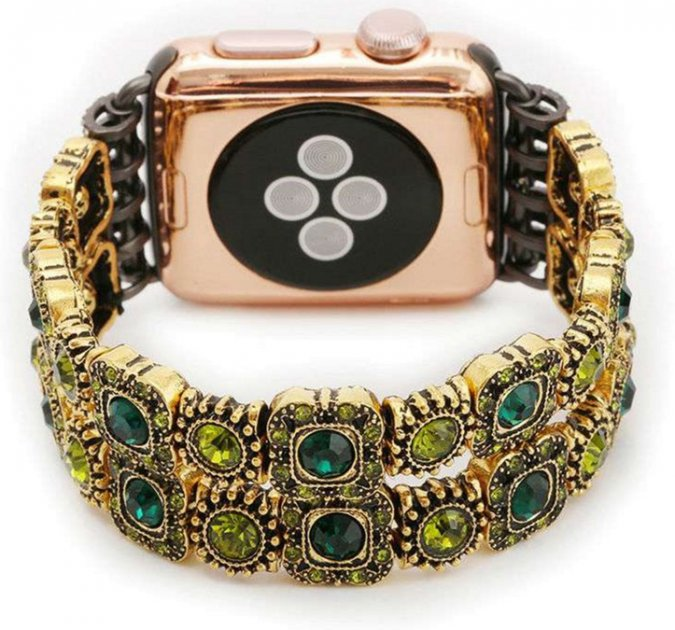 Ремінець XoKo Agate Band LUX для Apple Watch 38-40 mm Green (XK-AP-AGGRN) - зображення 1