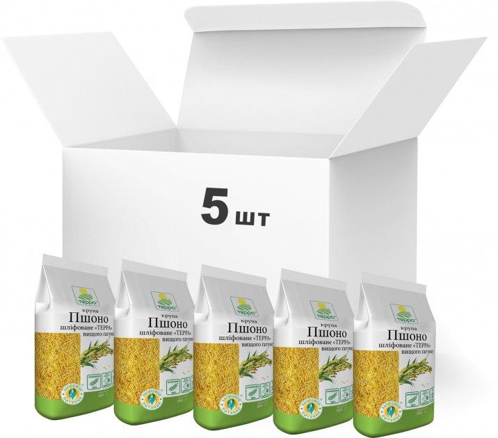 Упаковка пшена Терра шлифованного высшего сорта 900 г х 5 шт (4820015737168) - изображение 1