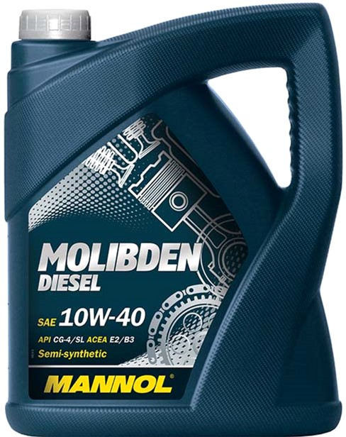 Моторное масло Mannol Molibden Diesel 10W-40 5 л (160/2) - изображение 1