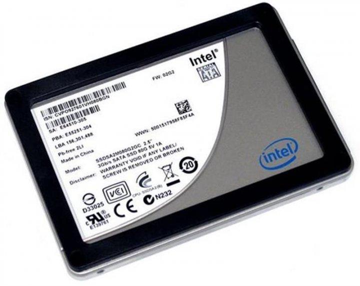 """Накопичувач SSD 80GB Intel X25-M 2.5"""" SATAII MLC (SSDSA2M080G2GC) - Refubrished - зображення 1"""