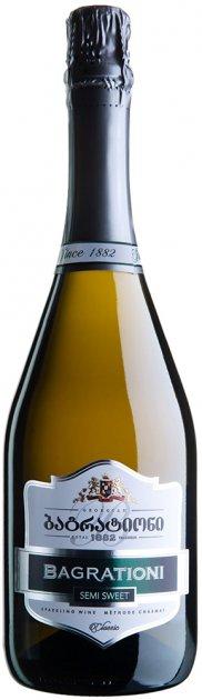 Вино игристое Багратиони классическое белое полусладкое 0.75 л 12% (4860069010107) - изображение 1