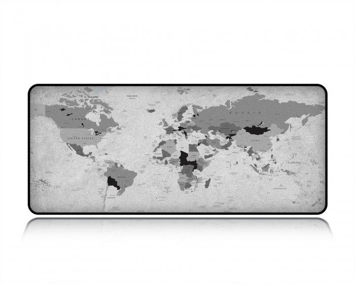 Ігрова поверхня WorkPlaceShop СІРА КАРТА СВІТУ 300х500 мм - зображення 1