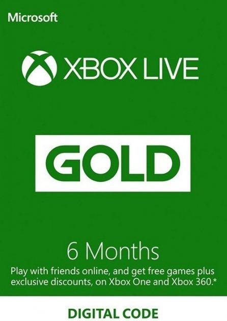 Электронный код (Подписка) Xbox Live Gold - 6 месяцев Xbox 360/One/Series для всех регионов и стран - зображення 1