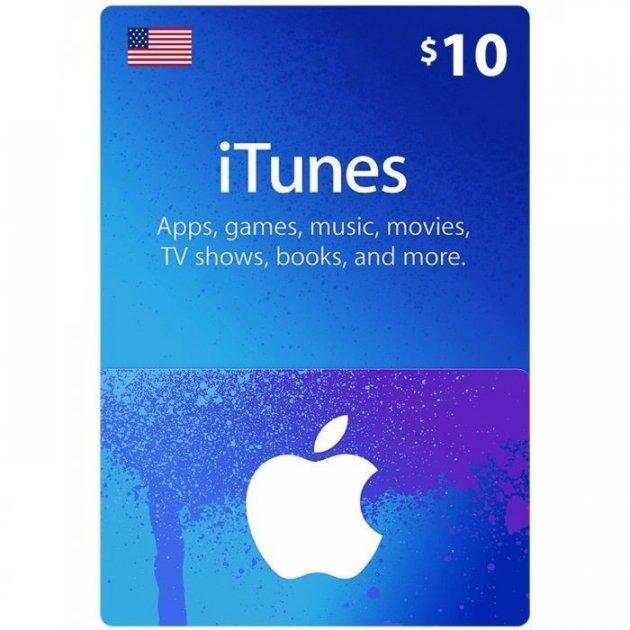 Подарункова карта iTunes Apple / App Store Gift Card 10 usd US-який регіон - зображення 1