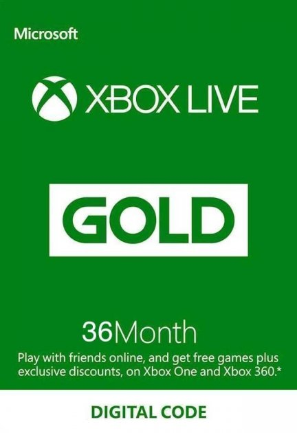 Xbox Live Gold - 36 місяців Xbox 360 / One / Series підписка для всіх регіонів і країн - зображення 1