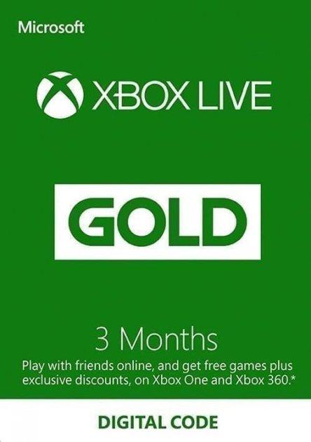 Электронный код (Подписка) Xbox Live Gold - 3 месяца Xbox 360/One/Series для всех регионов и стран - зображення 1