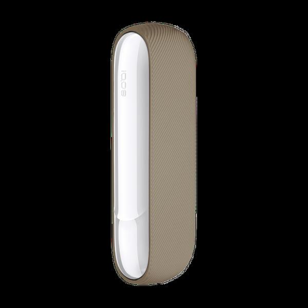 Силиконовый чехол для IQOS (Айкос) 3/3 DUO (Дуо) Ребристый Бежевый - зображення 1