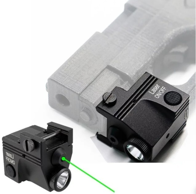 Зелёный лазерный прицел + led фонарь (Качество) - изображение 1