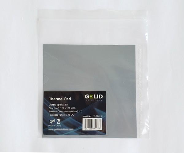 термопрокладка Gelid 120 мм х 120 мм х 0.5 мм 12w/mk сіра TPGP02С - зображення 1