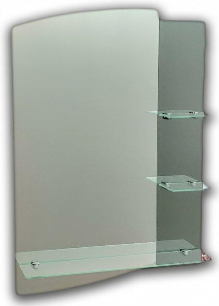 Дзеркало у ванну на три полиці Seria A №43 (700х500х120 мм) - зображення 1
