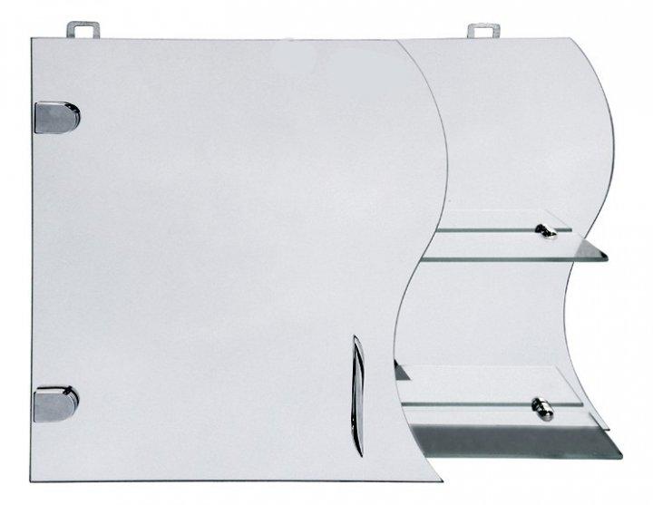 Дзеркальна шафка у ванну Seria A № А17-45 з хвилеподібним фасадом - зображення 1