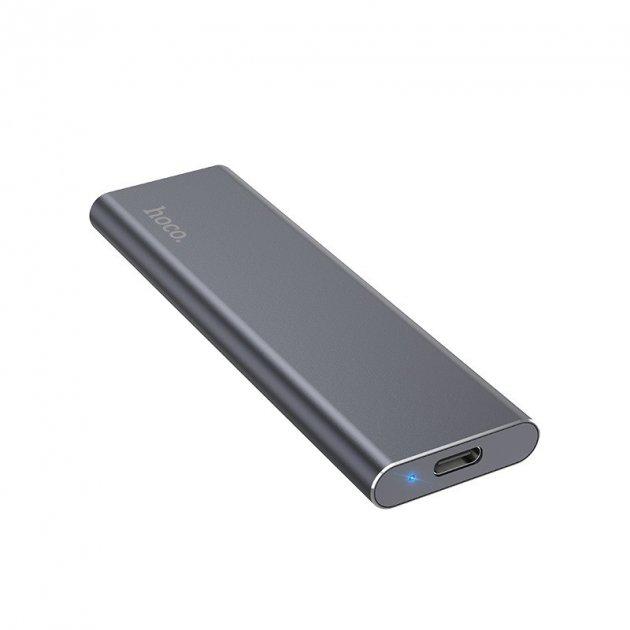 Зовнішній накопичувач Hoco SSD Type-C Extreme UD7 128GB/USB 3.1 з кабелем-адаптером 2в1 USB|Type-C - зображення 1