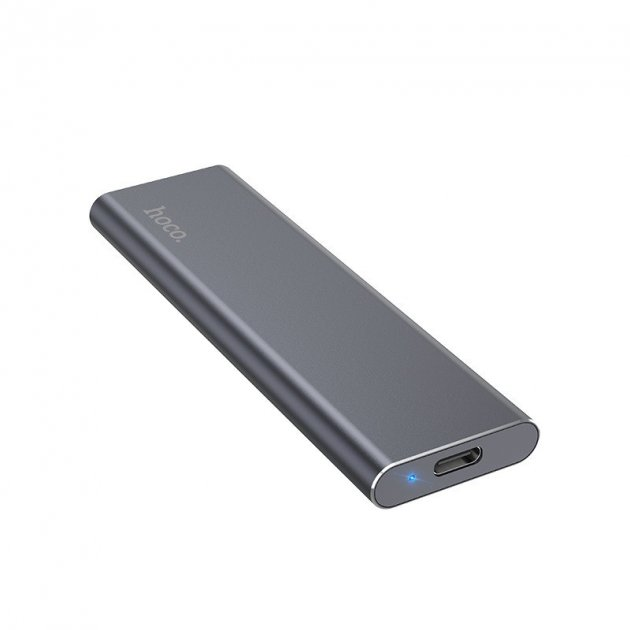 Зовнішній накопичувач Hoco SSD Type-C Extreme UD7 512GB/USB 3.1 з кабелем-адаптером 2в1 USB Type-C - зображення 1