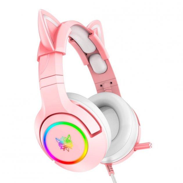 Игровая гарнитура Onikuma Gaming Headset для Xbox, PS, ПК pink - изображение 1