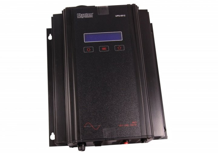 Бесперебойник Phantom UPS-0512 - ИБП (12В, 500Вт) - инвертор с чистой синусоидой - изображение 1
