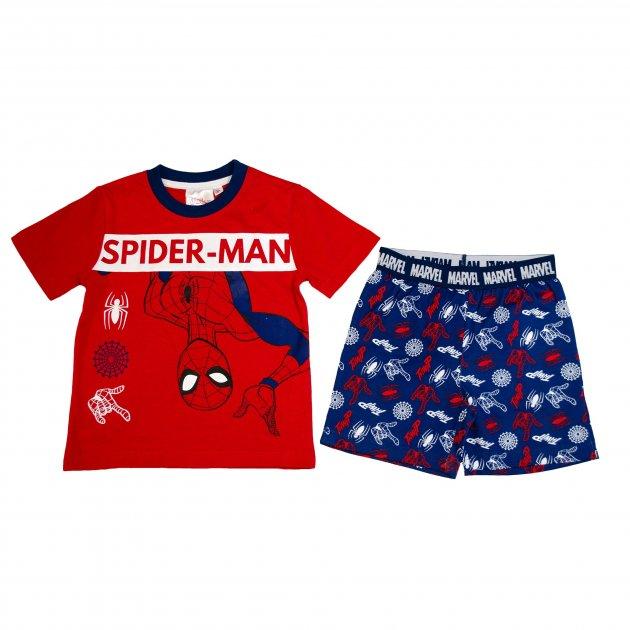 Пижама для мальчика (1 шт) George красная футболка и синие шорты Человек Паук Spider Man 3-4 года (98-104см) 948 - изображение 1