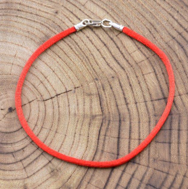Серебряный оберег Красная нить длина 17 см ширина 2 мм вес 0.7 г - изображение 1