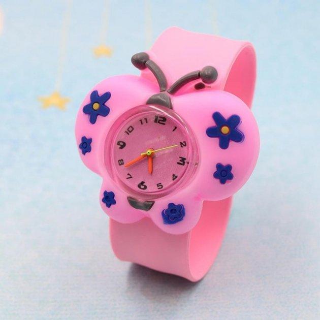 Годинник дитячі White city наручні Метелик силіконові рожеві - зображення 1