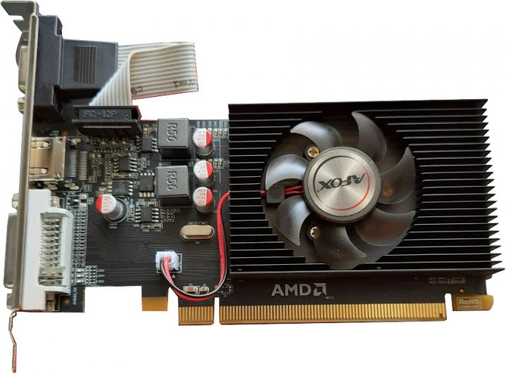 AFOX PCI-Ex Radeon R5 230 2GB GDDR3 (64bit) (625/1066) (DVI, VGA, HDMI) (AFR5230-2048D3L4) - зображення 1