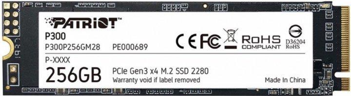 Накопичувач Patriot P300 256GB M.2 2280 NVMe PCIe 3.0 x4 3D NAND TLC (P300P256GM28) - зображення 1
