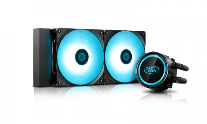 Система жидкостного охлаждения DeepCool GAMMAXX L240 T BLUE - изображение 1