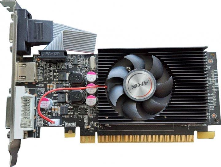 AFOX PCI-Ex GeForce GT610 2GB GDDR3 (64bit) (800/1000) (DVI, VGA, HDMI) (AF610-2048D3L5) - зображення 1