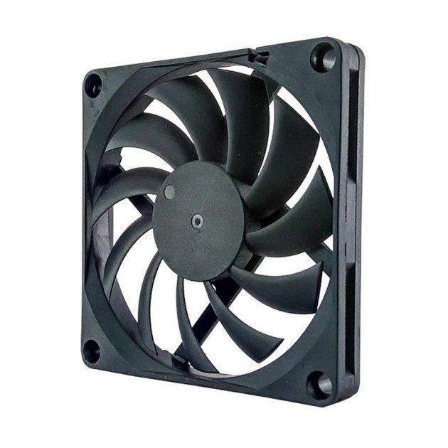 Вентилятор MDN 80 х 10 мм 2000 RPM, 3 контакта Черный (FAN-8010L12B-3P) - изображение 1