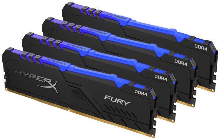 Оперативна пам'ять HyperX DDR4-2666 65536 MB PC4-21328 (Kit of 4x16384) Fury RGB (HX426C16FB4AK4/64) - зображення 1