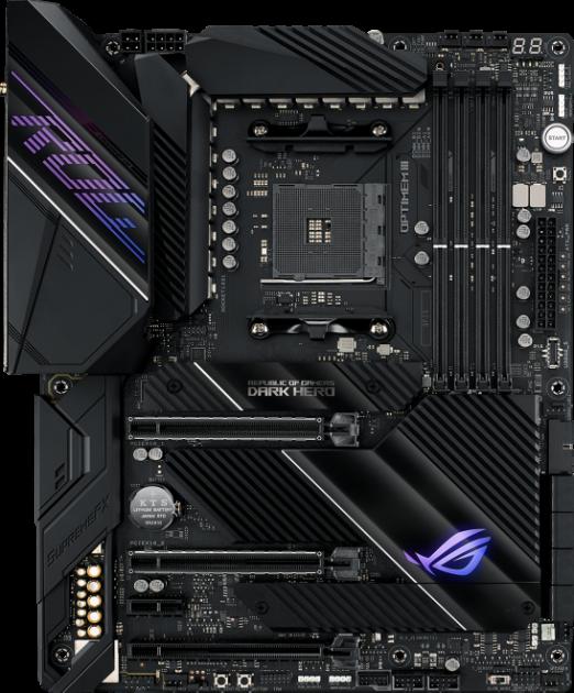 Материнська плата Asus ROG Crosshair VIII Dark Hero (sAM4, AMD X570, PCI-Ex16) - зображення 1