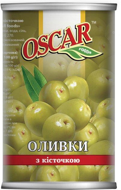 Оливки Oscar с косточкой 300 г (8413552051383) - изображение 1