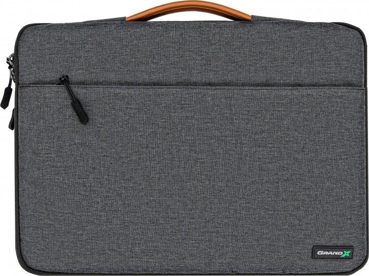 """Чехол для ноутбука Grand-X SLX-13D 13"""" Dark Grey - изображение 1"""