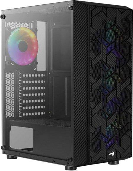 Корпус Aerocool Hive Black Mid Tower FRGB Glass side panel (Hive-G-BK-v2) - изображение 1