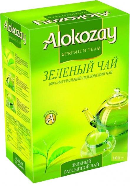 Чай зелений Alokozay среднелистовой 180 г (4820229040122) - изображение 1