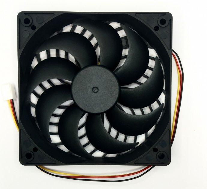 Вентилятор-кулер MDN 120мм 2200 оборотів / хв 9 лопатей із захистом (FAN-1225M12S) - зображення 1