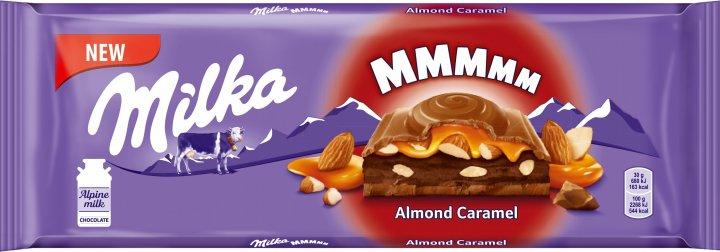 Шоколад Milka с миндальной начинкой и кусочками карамелизированного соленого миндаля 300 г (7622201773205) - изображение 1