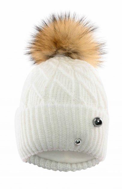 Зимняя шапка Elf-kids Монтана 50-52 см Молоко (ROZ6400026512) - изображение 1
