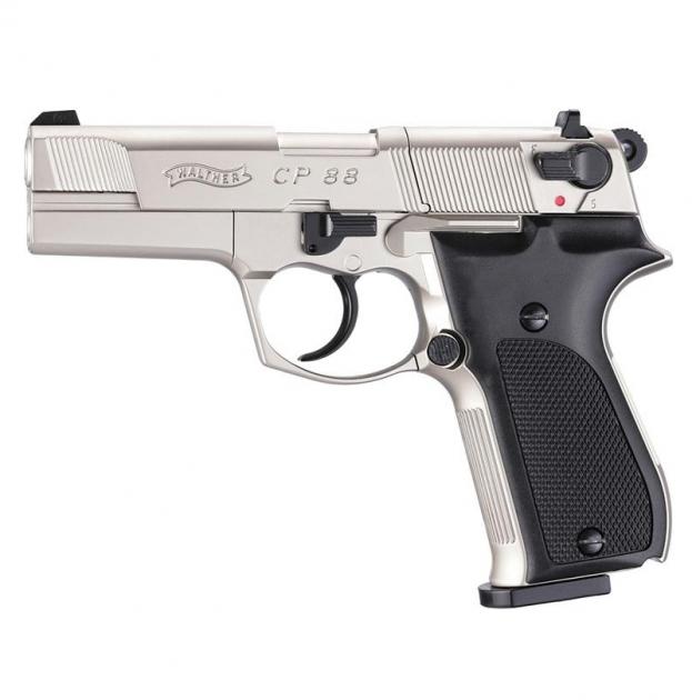 Пневматический пистолет Umarex Walther CP88 nickel - изображение 1